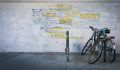 Urban Poetry (CoolMcFlash) Tags: text poetry bike bicycle vienna street wall fujifilm xt2 fahrrad wand fotografie photography wien xf1024mmf4 r ois citylife