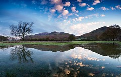 Puddle reflection (Alf Branch) Tags: westcumbria water refelections reflection puddle buttermere landscape lakes lakedistrict lakesdistrict leicadg818mmf284 panorama panasonic alfbranch cumbria clouds cumbrialakedistrict calmwater