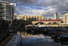 Storm Light at Limehouse (powern56) Tags: london limehouse limehousebasin dlr docklandslightrailway tfl transportforlondon passengertrain train lightrailway