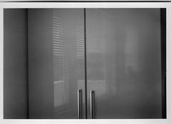 outer world (shou yokoya) Tags: 120 film mediumformat monochrome voigtlănder vintagecamera analogue acros 6×9 indoor light reflections minimalism