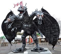 Three-headed dragon (Will S.) Tags: mypics porthope ontario canada primitivedesigns art sculpture robot autoparts