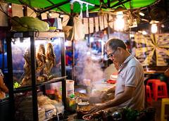 Thai Food (dlerps) Tags: bkk bangkok city daniellerps lerps sony sonyalpha sonyalpha99ii tha thai thailand urban lerpsphotography metropolitan street market streetfood duck cooking steam asian nightmarket thaifood streetphotography night spicy rotfai rotfaisrinakarinnightmarket srinakarin asia