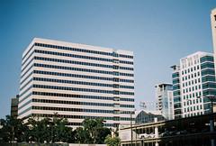 3 columns (jayplorin) Tags: buildings windows san jose california blue canon ae1 film city urban kodak gold 200 35mm
