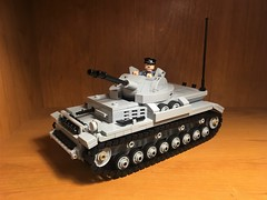 Flakpanzer IV Kugelblitz Detail (Wehrabricks) Tags: lego german wwii flakpanzer iv kugelblitz spaag tank panzer tmc