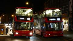 Sovereign Scanias (londonbusexplorer) Tags: london sovereign ratp group scania n230ud omnicity sp40072 yt59rxw sp40086 yt59ryn 183 pinner golders green tfl buses