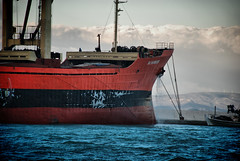 Strange clouds (jimiliop) Tags: ship port doch sea kiato red cloud boat