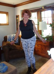 Anyone Know What I Can Do About These Hips? (Laurette Victoria) Tags: boots leggings hips laurette woman curly redhead