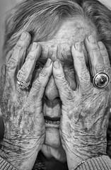 Hands #10 (Robert Borden) Tags: portrait woman women face hands detail mono monochrome blackandwhite bw monochromephotography blackandwhitephotography 50mm 50mmlens portraitphotography art arte retratos canon canonrebel canonphotography doorway doorwayproject putyourhandsupoveryourface