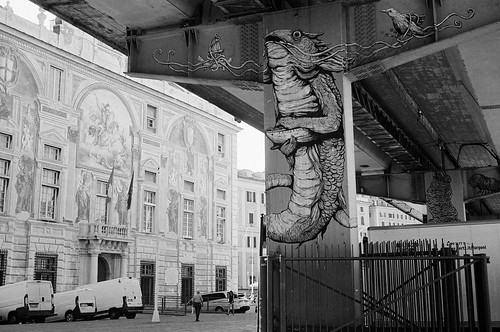 Genova overpass graffiti