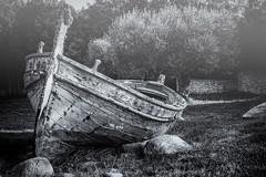 Lost boat #2 (julienmeffre) Tags: bateau barque brume brouillard fog black white