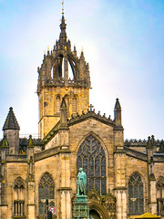In Edinburgh, There is a Church on the Hill (J Price - Alabama) Tags: cathedral church scotland edinburgh greatbritain stonework tower medieval statue stgiles