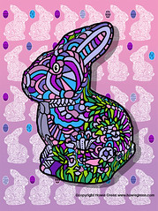 Easter Bunny Pop Art (Howie Green) Tags: pop art easter bunny pink