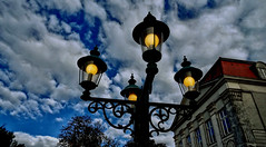 """There are darknesses in life and there are lights, and you are one of the lights, the light of all lights."""" (zairakhan) Tags: sky clouds lamps saltlakecityutah outdoor"""