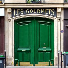 Les Gourmets (Pixdar) Tags: door paris porte puerta green