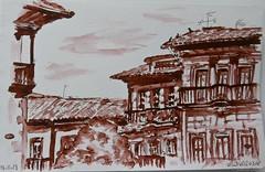 Villaviciosa (Asturias) (Marisa Ortún) Tags: villaviciosa arquitectura asturias tinta sketch usk