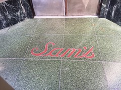 ...I Yams (misterbigidea) Tags: established1867 classic historic landmark sam'sgrillandseafood marble red urban sidewalk script letters lettering entrance restaurant city sf type