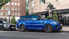 SVR (Mattia Manzini Photography) Tags: rangerover sport svr supercar supercars cars car carspotting nikon d750 v8 london knightsbridge uk england automotive automobili auto automobile suv blue chrome