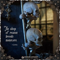 """""""The sleep of reason breeds monsters."""" - Goya . 💀Turn on post notifications, click link in BIO to follow along on our journey, and sign up on our mailing list at: ☩ sedlecossuary.mechanicalwhispers.com ☩ . 🌟 Lots more exciting announcements to (Sedlec Ossuary Project) Tags: sedlecossuaryproject sedlec ossuary project sedlecossuary kostnice kutnahora kutna hora prague czechrepublic czech republic czechia churchofbones church bones skeleton skulls humanbones human mementomori memento mori creepy travel macabre death dark historical architecture historicpreservation historic preservation landmark explore unusual mechanicalwhispers mechanical whispers instagram ifttt"""