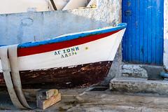 Dry Docked - Amorgos, Greece (ChuckPalmer {cepalm}) Tags: europe greece seacloud travel boat door fisherman chuckpalmer