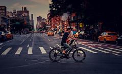 New York (KennardP) Tags: newyorkcity newyork nyc manhattan road cars canon5dmarkiv 5dmarkiv sigma50mmf14dghsmart sigmaartlens bicycle taxi