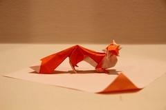 Origami Fox (Sasha CraftSpace) Tags: origami fox fold hoangtanquyet elegant animal orange curves