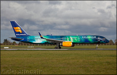 TF-FIU Boeing 757-256(W) Icelandair (Hekla Aurora) (elevationair ✈) Tags: dublin airport dublinairport dub eidw airliners airlines avgeek aviation airplane plane arrival departure speciallivery hekla aurora heklaaurora auroraborealis thenortherlights iceair icelandair boeing 757 752 boeing757256w tffiu sun sunny sunshine winter