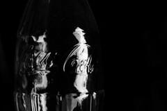 the man is running (Cosentino Aran) Tags: is man running bottle blackandwhite noir cocacola glass dark life style