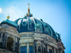 A weathered cupola (Raoul Pop) Tags: stone pediment time ionic material structure technology niche architecture summer rooftop balcony statue copper belltower gilded eaves object neoclassic column descriptor rotunda metal berlin germany de