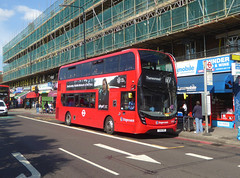 SLN 12387 - YX16OHC - PECKHAM HIGH STREET - THUR 6TH SEPT 2018 (Bexleybus) Tags: peckham high street south east london tfl route 177 stagecoach adl dennis enviro mmc hybrid 12387 yx16ohc
