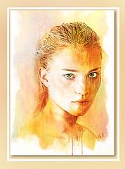 orange (andrzejslupsk) Tags: orange woman portrait andrzej słupsk slupsk face art photo manipulation