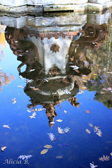 Primeras hojas de Otoño - #InspiraciónBdF77 (Alicia B,) Tags: otoño reflejos fuente hojas reflection autumn automne feuilles leaves fountain