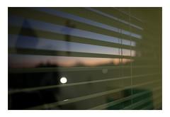 Darkness Arising (Thomas Listl) Tags: thomaslistl color evening sunset darkness light jalousie lines stripes curtain sky blue mood atmosphere gloomy sinister 35mm walldürn dusk