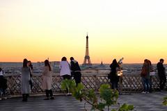 Point de vue Tour Eiffel (DelBi_Photo) Tags: paris rooftop sunset opera galeries lafayette