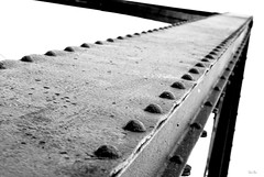 a bridged... (Stu Bo) Tags: steel metal bridge up blackandwhite bw bnw sbimageworks monotone