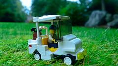 Along for the Ryder (271/365) (robjvale) Tags: nikon d3200 project365 lego adventurerjoe golf cart rydercup grass green