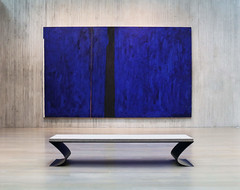 Introspection (studioferullo) Tags: abstract architecture art beauty bright building colorful colourful colors colours contrast dark design detail downtown edge light minimalism perspective pattern pretty scene study texture tone world clyfford still museum denver colorado bench blue gray grey