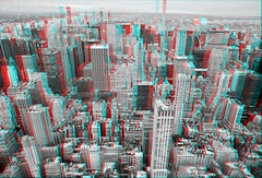 3D Anaglyph, North view from the Empire State Building (86th Floor), Midtown Manhattan, NY (AperturePaul) Tags: newyorkcity newyork unitedstates america city nikon d600 architecture manhattan skyscraper empirestatebuilding observatory view 3d stereo anaglyph redcyan