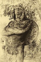 Statue Of a Proud Indian (sharivahidi) Tags: statue sepia
