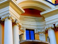 Pałac - Pieszyce (andrzejskałuba) Tags: polska poland pieszyce dolnyśląsk silesia sudety europe architektura architecture pałac palace color yellow żółty balkon okno window balcony beautiful