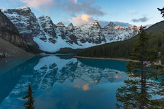Moraine Lake, Banff National Park (Rolf M B) Tags: improvementdistrictno09 alberta canada ca lake national park banff moraine dawn sunrise snow mountain rockies rocky mountains reflection hdr