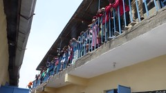 Waiting for their lunch (prondis_in_kenya) Tags: kenya nairobi colddryseason kayole tujisaidie school vbs holiday lunch udp urbandevelopmentprogramme asc participant balcony video