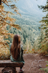 Autumn Mood (Top KM) Tags: fall autumn one person people nature outdoors outdoor outside girl woman female trees landscape yellow green park canada british columbia bc sitting woods sunlight forest tree area travel explore 500px canon