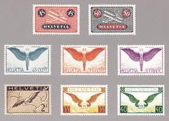 Schweizer Briefmarken (micky the pixel) Tags: briefmarke stamp ephemera schweiz suisse switzerland flugpostmarke flugzeug doppeldecker ikarus flügel wings flügelrad