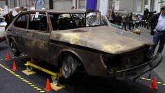Burned Saab (Schwanzus_Longus) Tags: hamburg motor classics german germany sweden swedish old classic vintage car vehicle sedan saloon saab 900 turbo
