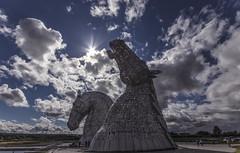 The Kelpies (CraDorPhoto) Tags: canon6d landscape achitecture statues scotland modernart art sun sky clouds