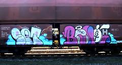 graffiti on freights (wojofoto) Tags: amsterdam nederland netherland holland graffiti streetart freighttraingraffiti freighttrain freights fr8 cargotrain vrachttrein treingraffiti traingraffiti wojofoto wolfgangjosten benoi benoit set