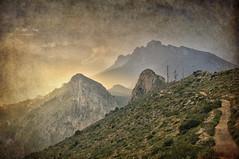 (460/18) Bernia (Pablo Arias) Tags: pabloarias photoshop ps capturendx españa photomatix nubes cielo paisaje montaña cima hierba sierra bernia morrodetoix alicante