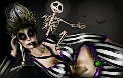 Happy Halloween! (Lori Novo) Tags: lorinovo secondlife avatar virtual blogger october 2018 costume halloween beetlejuice irrisistible