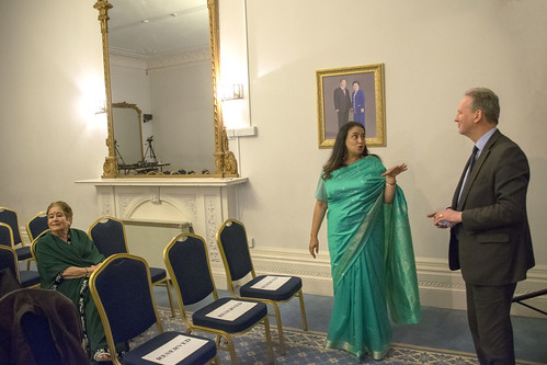 DSC_2360 A Woman of Substance. Gulrukh Khan interview with Her Excellency Mrs Girija Sinha The wife of the Indian High Commissioner to London Mr Y. K. Sinha at The Universal Peace Federation at 43 Lancaster Gate London with Secretary General: Robin Marsh