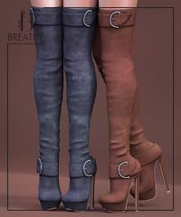 [BREATHE]-Honoka@Fameshed ([Breathe]) Tags: breathe secondlife mesh heels slink maitreya belleza fameshed playgirl suede leather